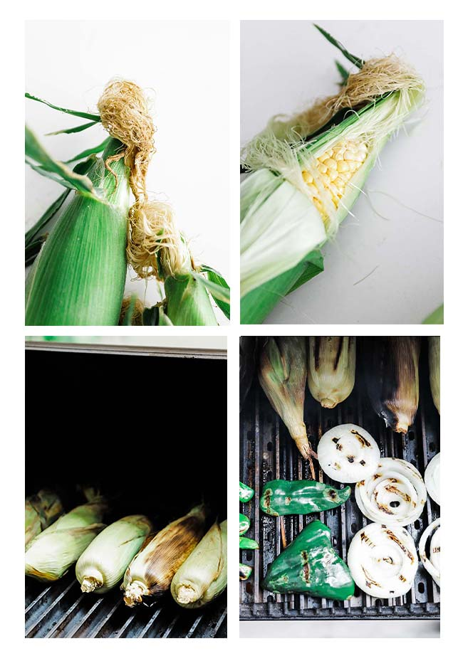 how to prepare corn and grill it