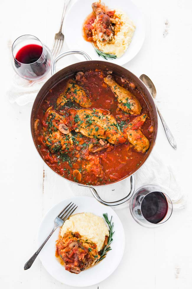 italian chicken cacciatore recipe with polenta