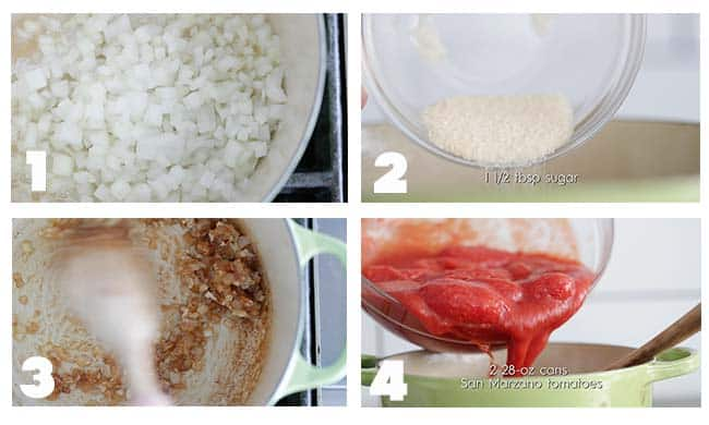 step by step procedures on preparing tomato soup