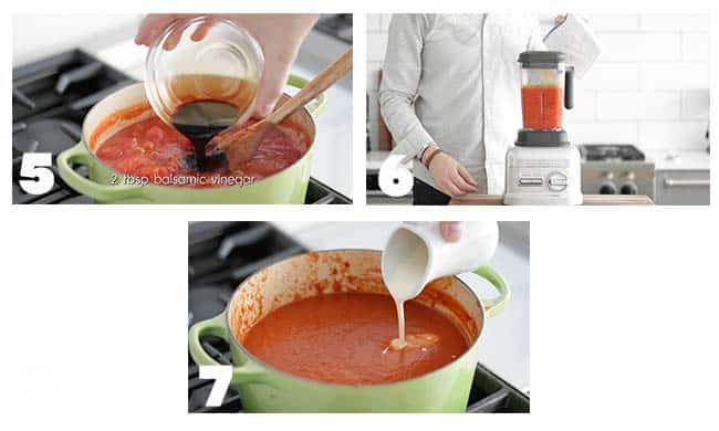 step by step procedures to make tomato soup