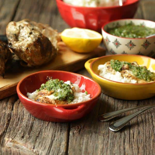 Grilled Chicken Recipe with Hatch Chile Chimichurri Sauce