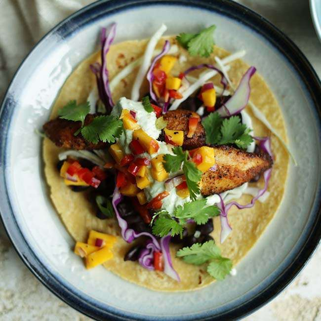 Blackened Mahi Mahi Fish Tacos Recipe With Mango Salsa