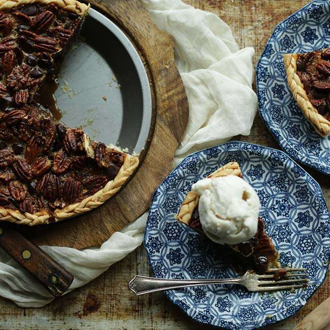 How to Make a Pecan Pie Recipe with Bourbon and Chocolate