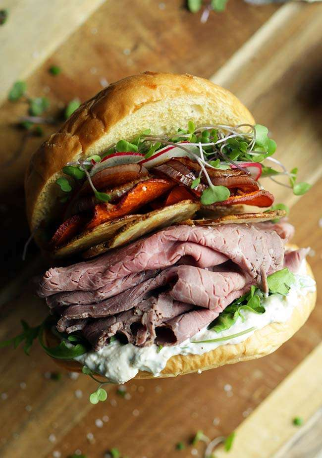 sandwich with recipe with meat