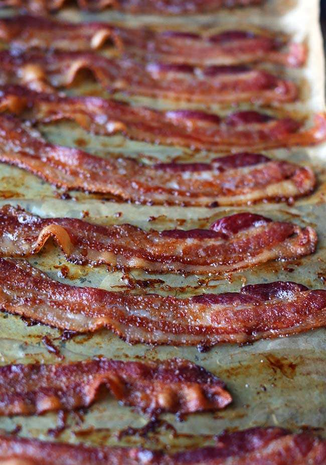cooked crispy bacon