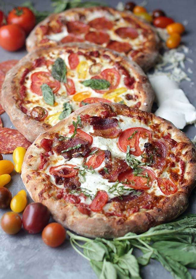homemade pizza recipe three different pizza recipes with no knead pizza 12359