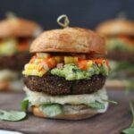 Black Bean Burger Recipe with Yucca and Guacamole