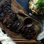 Char Siu Skirt Steak Recipe with Sweet Garlic Udon Noodles