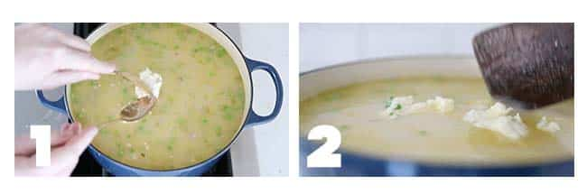 step by step process for cooking homemade dumplings in soup