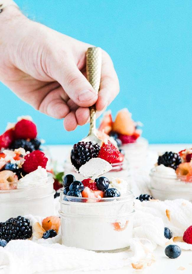 panna cotta with whipped cream