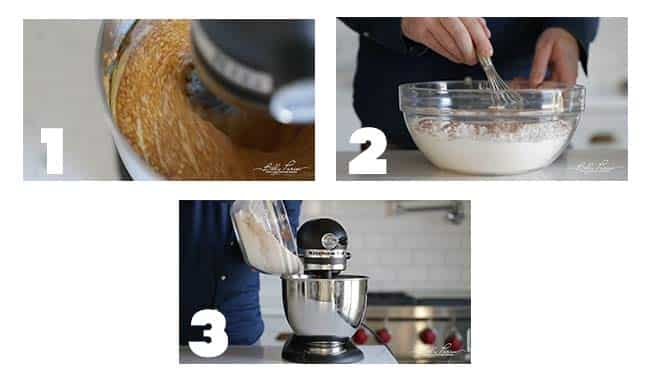 step by step procedures for making a pumpkin cake batter