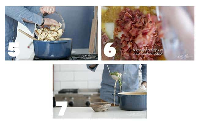 step by step process for serving a zuppa toscana recipe