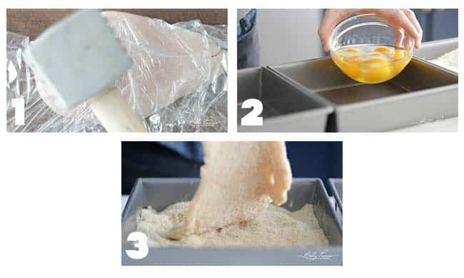 step by step procedures for breading a chicken milanese recipe