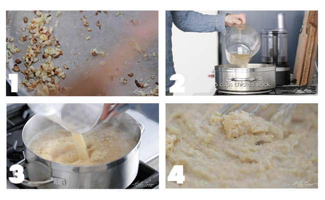 step by step procedures to make creamy polenta