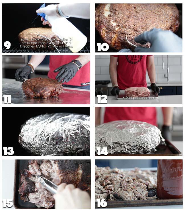 smoked pull pork recipe procedures 9-16
