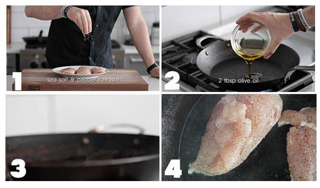step by step procedures on how to cook chicken
