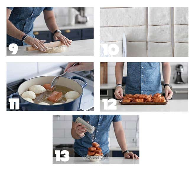 step by step procedures for frying beignets