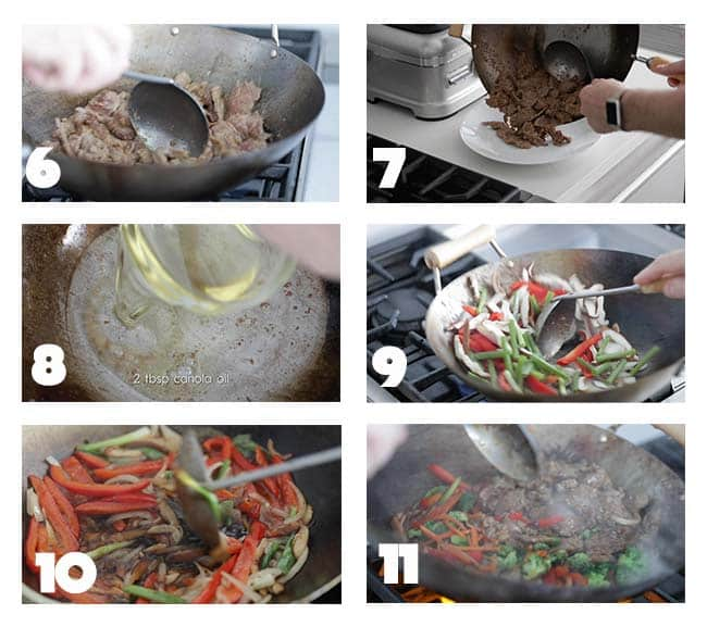 step by step procedures for making a beef stir fry