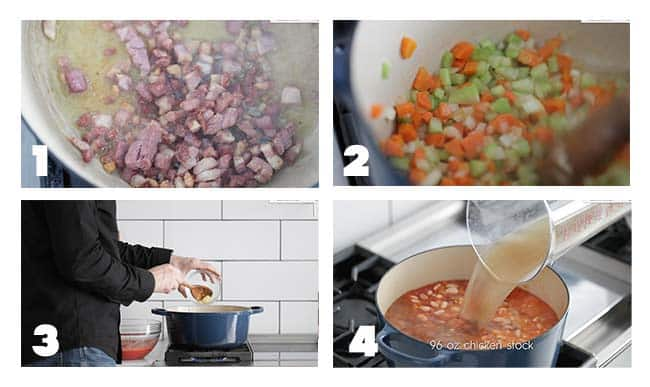 step by step procedures for preparing pasta fagioli