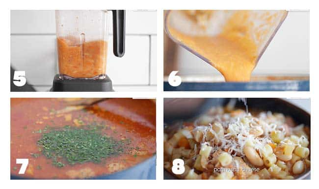 step by step procedures for serving a pasta fagioli