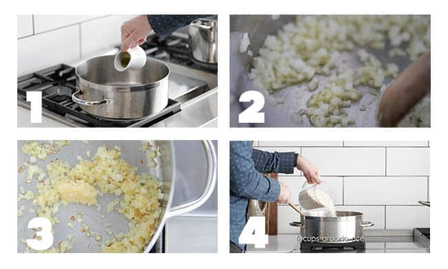 step by step procedures for risotto prep