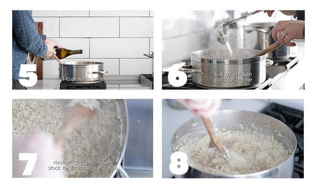 step by step procedures for making risotto