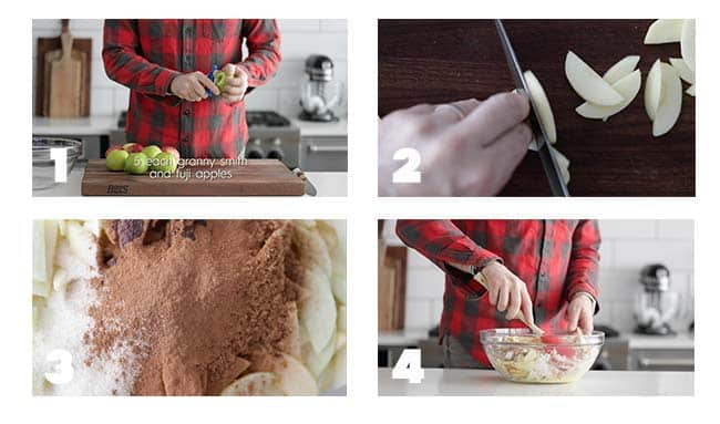 step by step process to make an apple pie filling