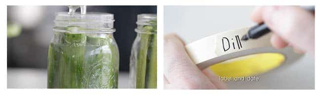 labeling and dating pickle jars