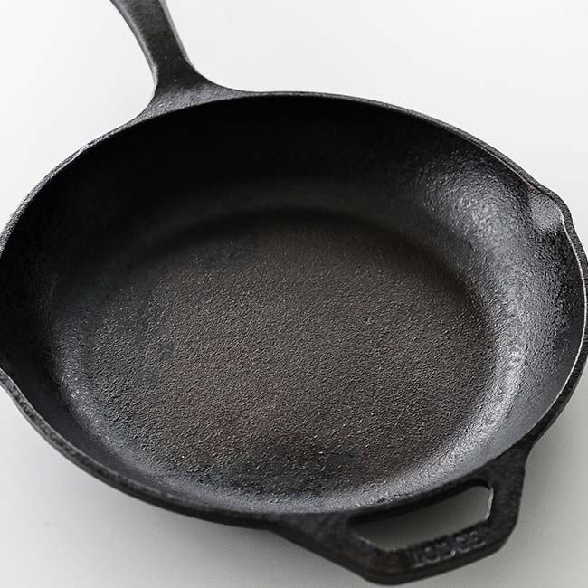 seasoned cast-iron pan