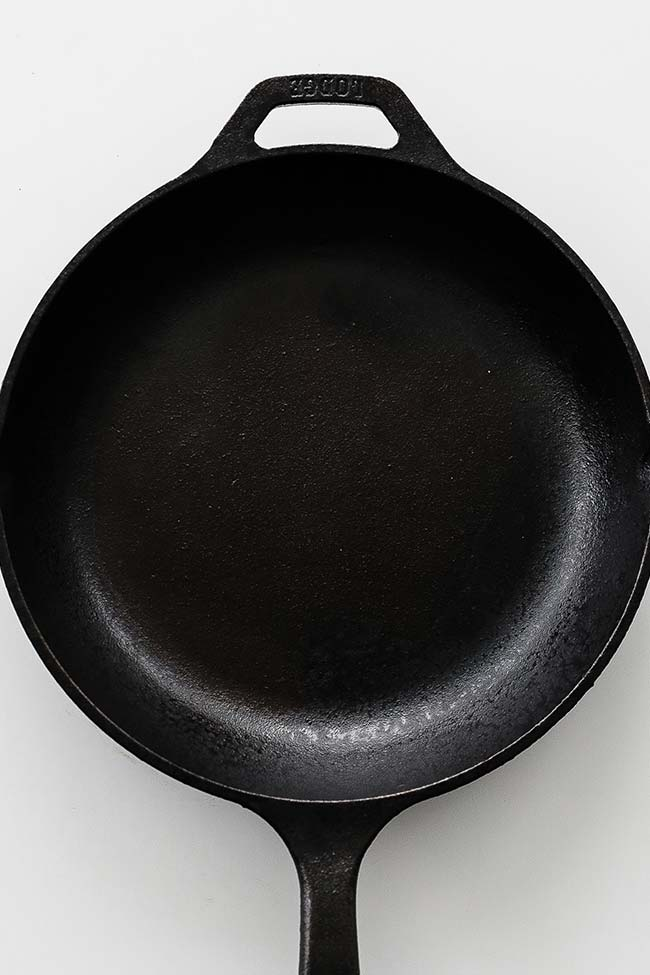 cleaned cast-iron pan
