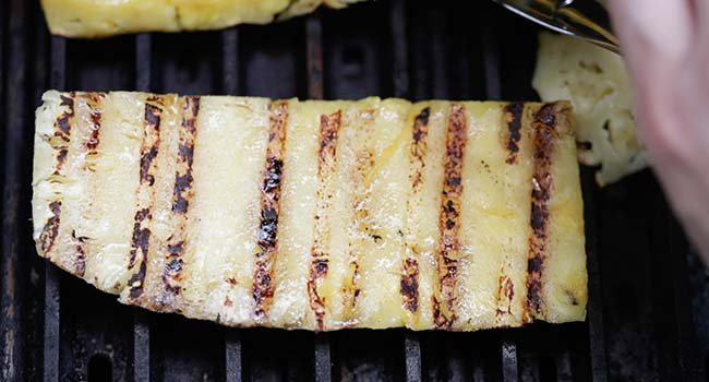 grilled pineapple on a grill