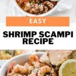 shrimp scampi pin for pinterest
