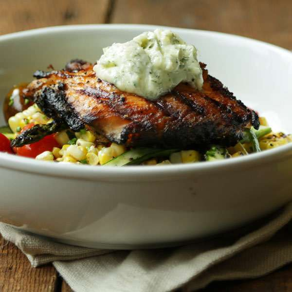 Grilled Salmon Recipe with Herb Butter